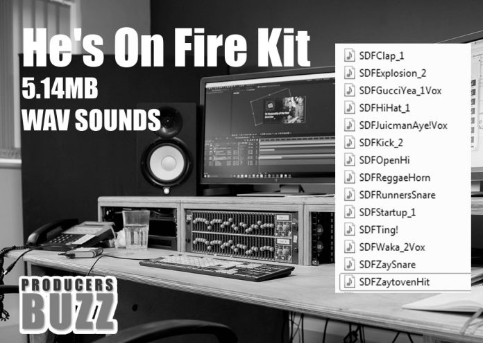 hes on fire hip hop drum kit