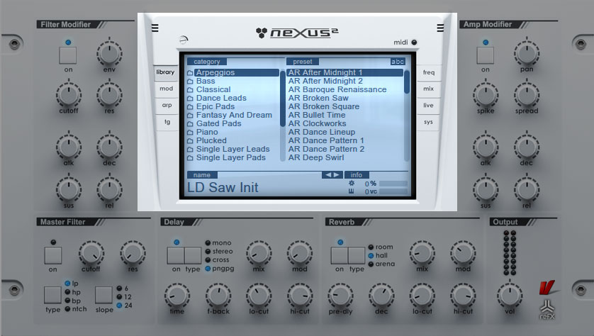 Nexus VST - Library