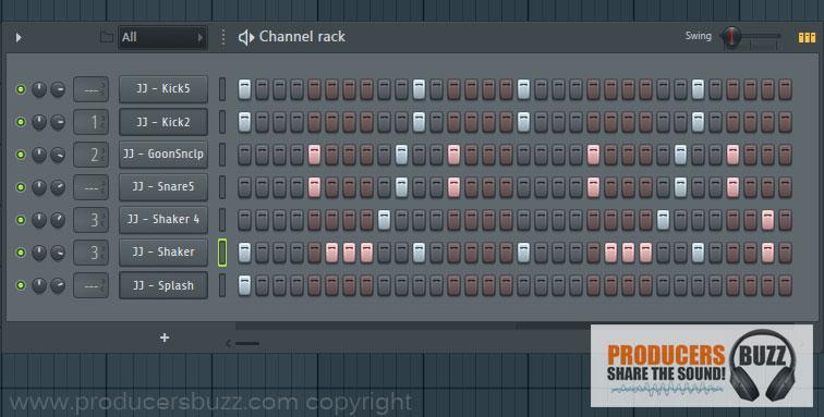3rd Hip-Hop Drum Pattern Loop - 7 Cool Hip-Hop Drum Pattern Loops - FL Studio Tutorial