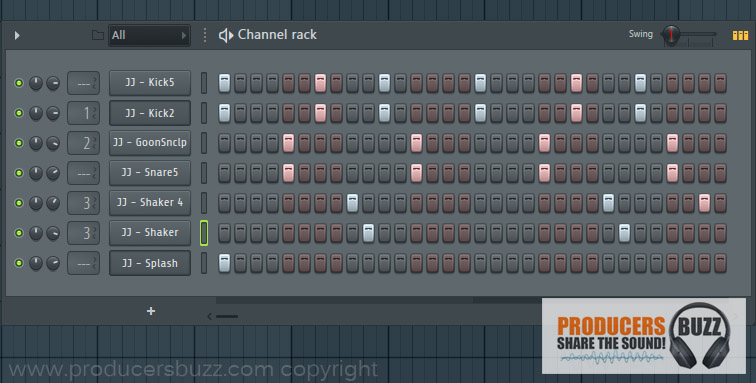 4th Hip-Hop Drum Pattern Loop - 7 Cool Hip-Hop Drum Pattern Loops - FL Studio Tutorial