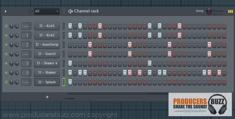 5th Hip-Hop Drum Pattern Loop - 7 Cool Hip-Hop Drum Pattern Loops - FL Studio Tutorial