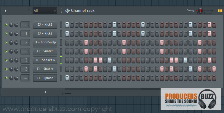 6th Hip-Hop Drum Pattern Loop - 7 Cool Hip-Hop Drum Pattern Loops - FL Studio Tutorial