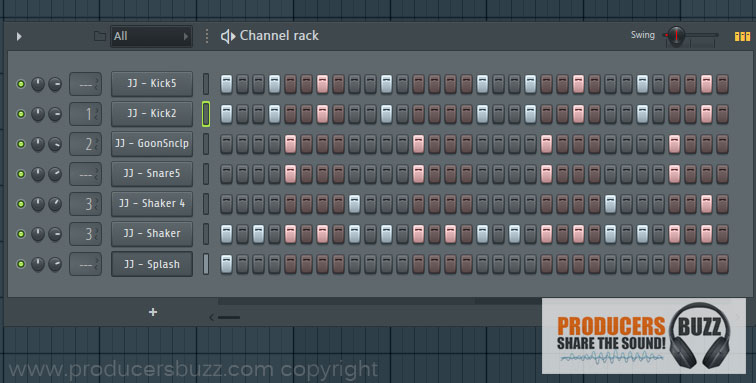7th Hip-Hop Drum Pattern Loop - 7 Cool Hip-Hop Drum Pattern Loops - FL Studio Tutorial
