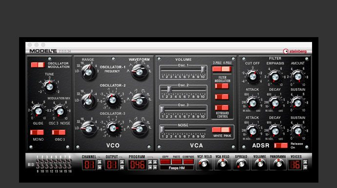 Free Bass Synth - Bassline Synth VST Steinberg Model E