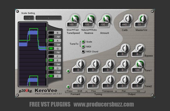KeroVee FREE Autotune VST Plugin - Producers Buzz