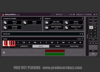 MAutoPitch Free Pitch Correction VST Plugin
