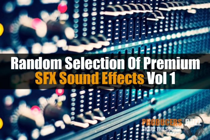 Random Selection Of Premium SFX Sound Effects Vol1