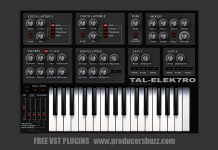 Best Free Bass Analog Synth VST Plugin - TAL-Elek7ro