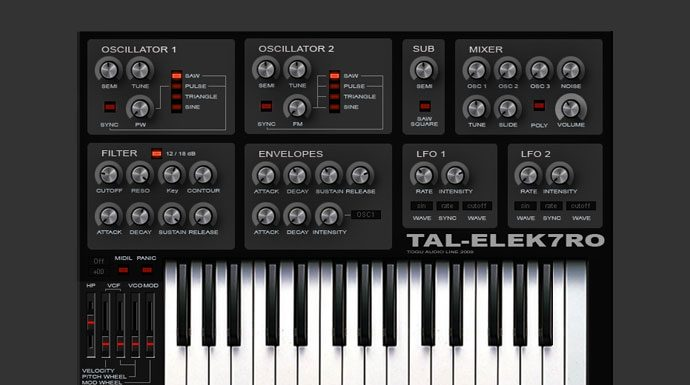 Best Free Bass Analog Synth VST Plugin - TAL-Elek7ro - Producers Buzz