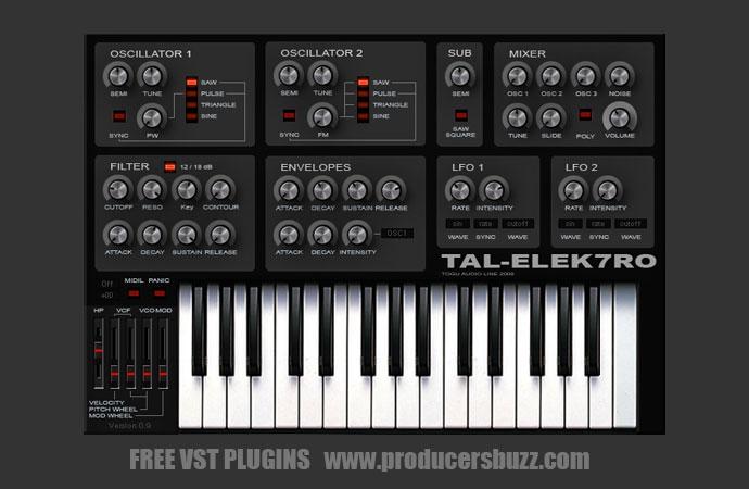 Best Free Bass Analog Synth VST Plugin - TAL-Elek7ro