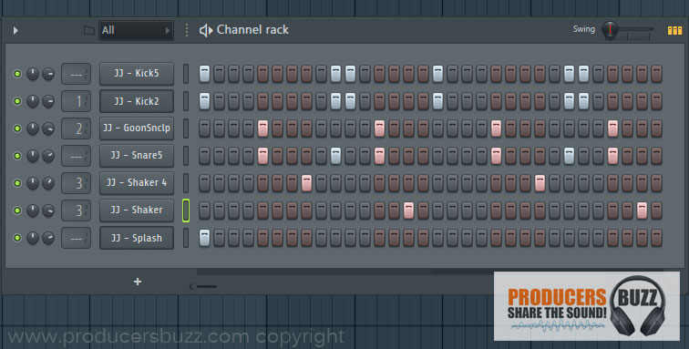 Hip-Hop Drum Loop 1 - 7 cool hip-hop drum loops in fl studio, free fl studio tutorial