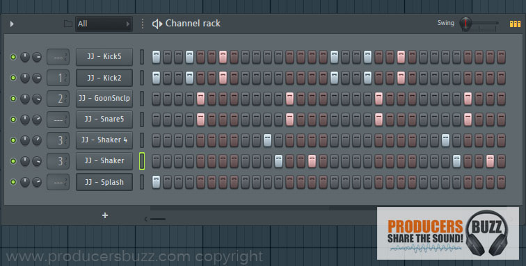 Hip-Hop Drum Loop 2 - 7 cool hip-hop drum loops in fl studio, free fl studio tutorial