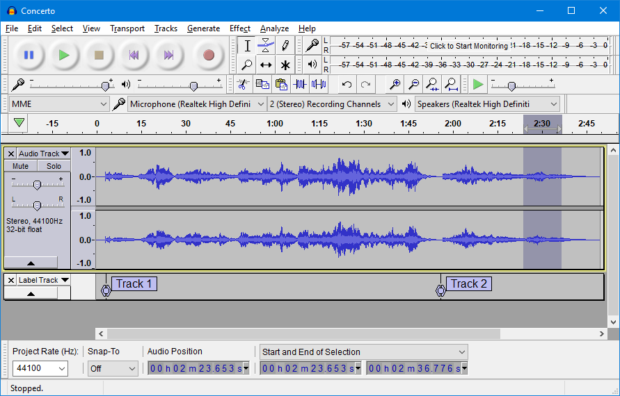 Audacity Free Audio Recording Software