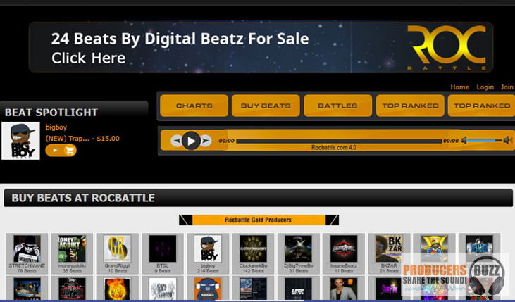 Sell Beats on Roc battle