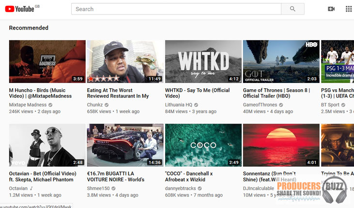 youtube - top 10 websites to use for selling beats