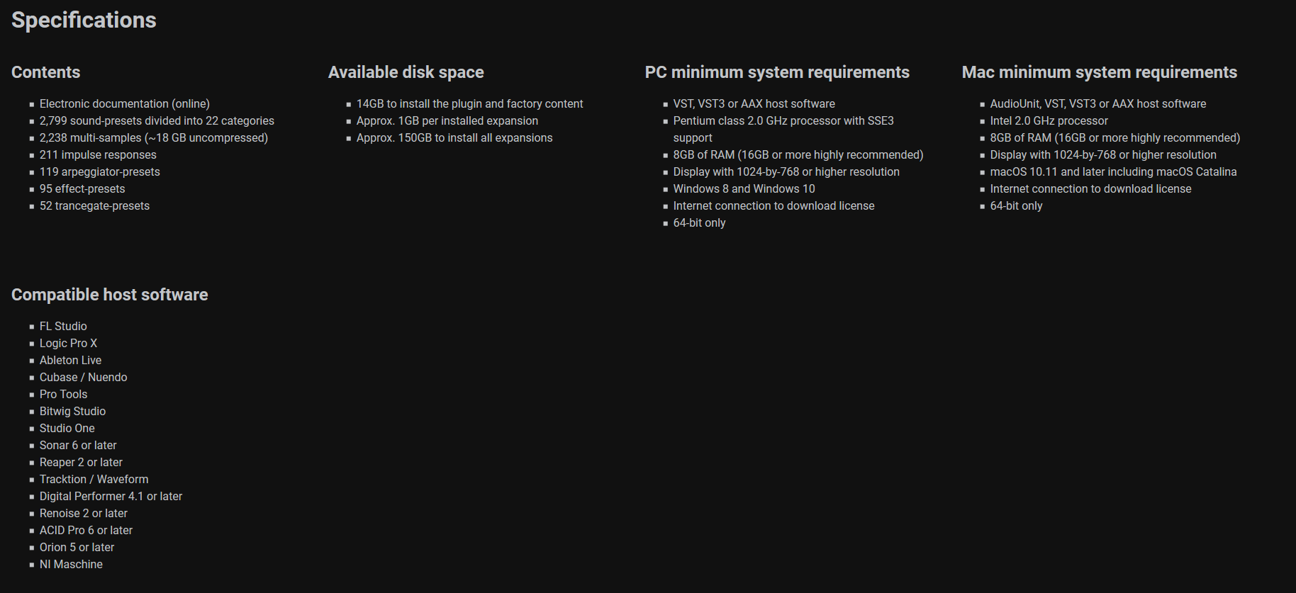 Nexus 3 Specifications and Requirements