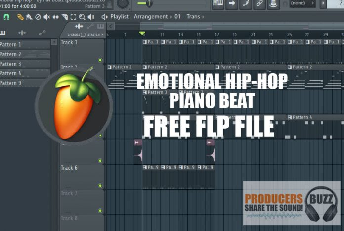 Emotional Piano Hip-Hop Beat FL Studio 20 Project File