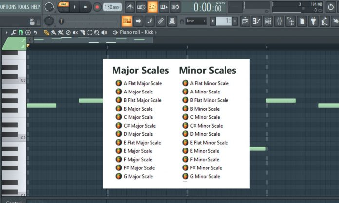 Minor & Major Scales (Ghost Notes FL Studio Templates)