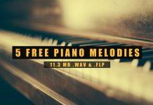 5 Free Piano Melody Loops