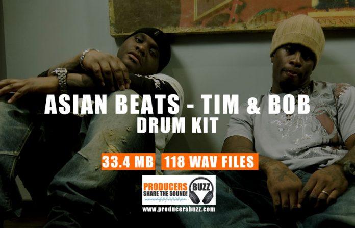 Asian, Tim & Bob Trap Drum Kit