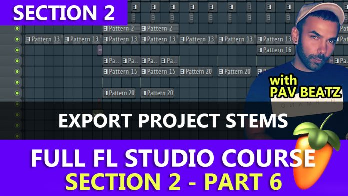 export project stems fl studio