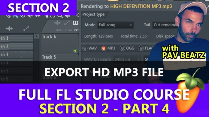 FL Studio - How to Save and Export High Definition MP3 Files