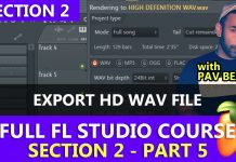 Exporting High Definition WAV Files in FL Studio Tutorial