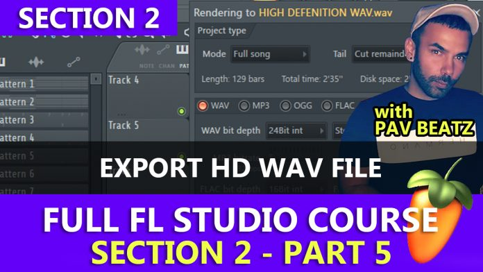 Exporting High Definition WAV Files in FL Studio Tutorial