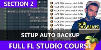 How to setup auto backup files in FL Studio