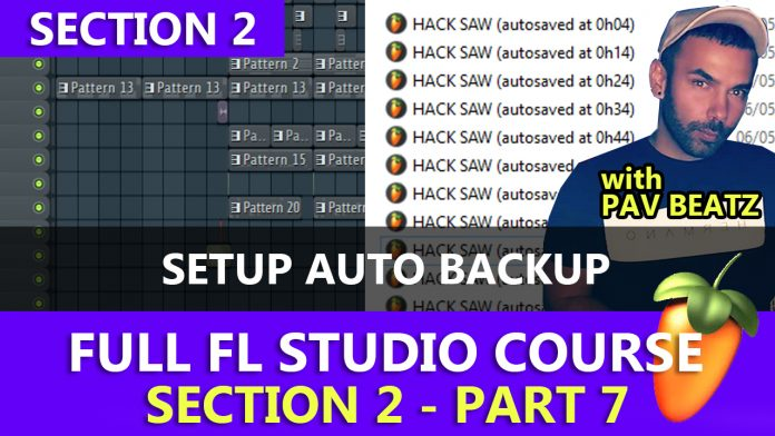 How to setup auto backup files in FL Studio