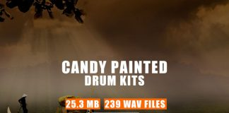 Candy Painted Drum Kit