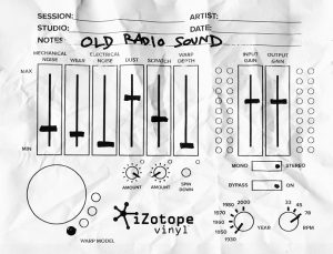 old radio lofi sound preset effect