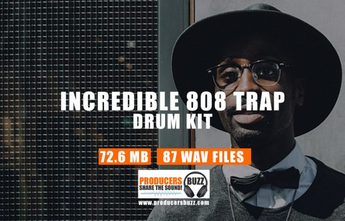 Free Incredible 808 Trap Drum Kit
