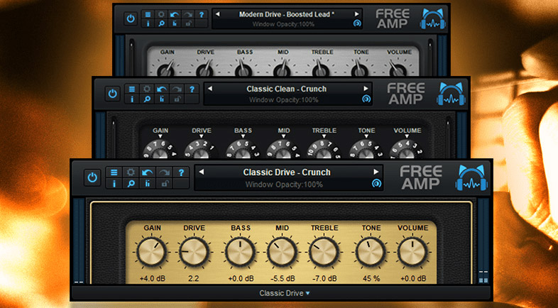 The free guitar amp simulation plug-in