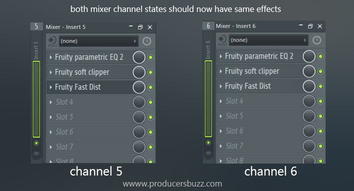 both mixer channel states should now have same effects