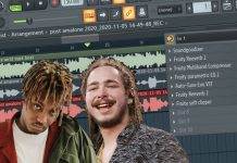 Juice WRLD X Post Malone Vocal Rap Effects Settings in FL Studio