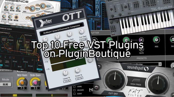Top 10 Free Download VST Plugins on PluginBoutique.com