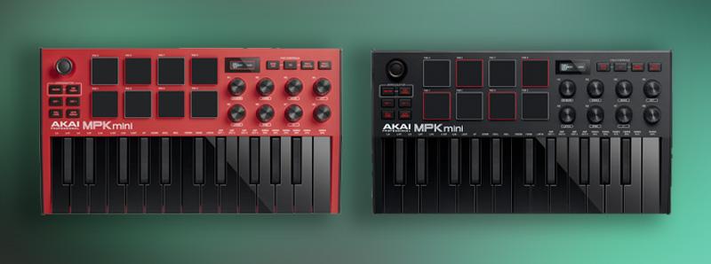 Akai MPK Mini Mk3 Red Or Black Editions