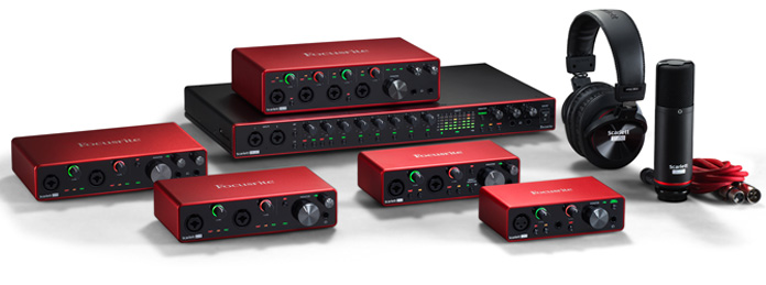 Focusrite Scarlett Line-up