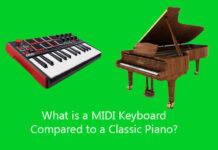 MIDI Keyboard Compared to a Classic Piano