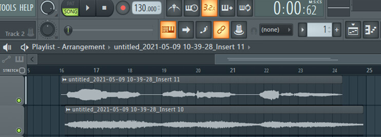 finished recording choir vocal effect